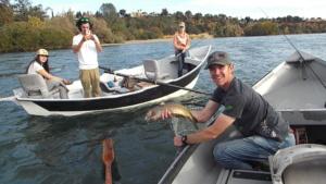 Sundial Bridge fly fishing Northern California Sacramento River